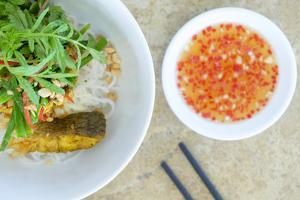 Salad and hot sauce, Vietnamese food, Vietnam, Indochina, Southeast Asia, Asia by Alex Robinson