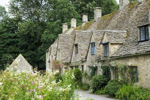 Typical Cotswold Houses in the Village of Bibury, the Cotswolds, Gloucestershire by Alex Robinson