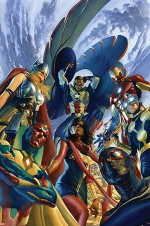 All-New, All Different Avengers #1 Cover Featuring Vision, Thor (Female) & More by Alex Ross