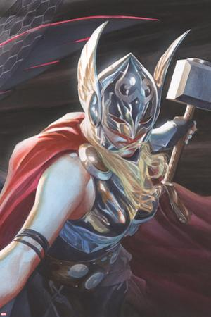 All-New, All-Different Avengers #15 Cover Art Featuring Thor (Female) by Alex Ross
