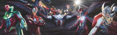 All-New, All-Different Avengers Annual #1 Variant Cover Art Featuring Vision, Iron Man & More by Alex Ross