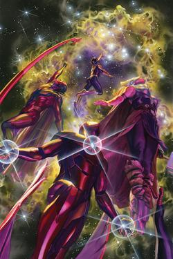 All-New, All-Different Avengers No. 10 Cover Art Featuring: Nova, Vision, Thor (Female), Iron Man by Alex Ross