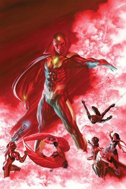 All-New, All-Different Avengers No. 6 Cover Featuring Vision, Iron Man, Falcon Cap and More by Alex Ross