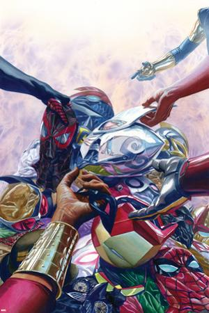 All-New, All-Different Avengers No. 8 Cover Art Featuring: Nova, Thor (Female), Falcon Cap and More by Alex Ross