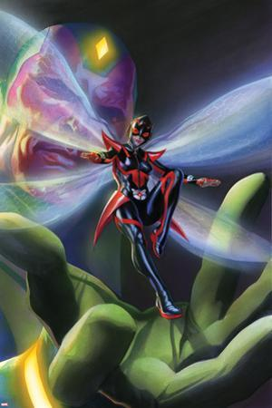 All-New, All-Different Avengers No. 9 Cover Art Featuring: Vision, Wasp by Alex Ross