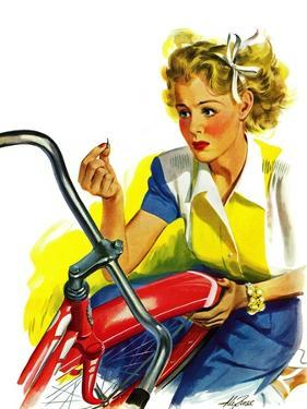 """""""Flat Bike Tire,"""" July 24, 1943 by Alex Ross"""