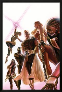 Squadron Supreme #1 Cover with Blur, Doctor Spectrum, Nighthawk, Warrior Woman, Hyperion, Thundra by Alex Ross