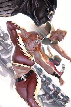 Squadron Supreme No. 4 Cover Featuring Nighthawk, Hyperion, Blur, Thundra, Doctor Spectrum by Alex Ross