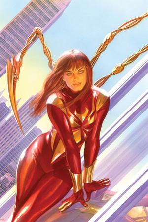 The Amazing Spider-Man No. 15 Cover Art Featuring: Mary Jane Watson, Iron Spider-Man by Alex Ross