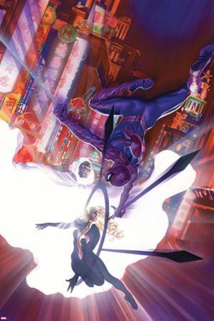 The Amazing Spider-Man No.7 Cover, Featuring Spider-Man, Cloak and Dagger by Alex Ross