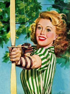 """Woman Archer,"" July 22, 1944 by Alex Ross"