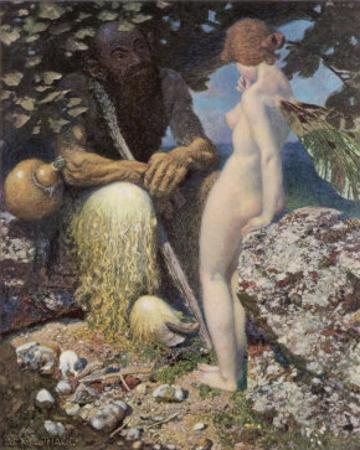 Pan is Consulted by Psyche Concerning Her Relationship with Cupid by Alex Rothaug