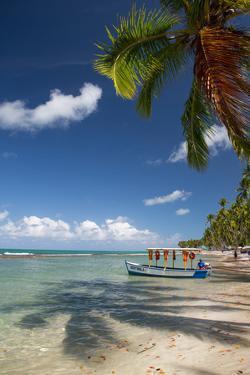 A Boat Floats Along the Sandy Praia Do Carneiros Near Tamamdere, North-Eastern Brazil by Alex Saberi