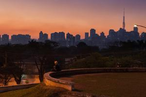 A Couple Watch the Sunset in Praca Do Por Do Sol, Sunset Square, in Sao Paulo by Alex Saberi