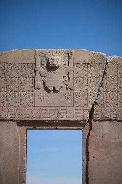 A Doorway in the Ancient City of Tiwanaku by Alex Saberi