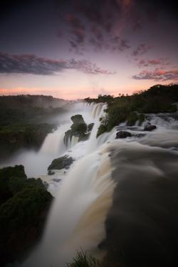 A Dramatic Sunset over Iguazu Falls by Alex Saberi