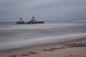 A Shipwreck Near Cape Cross, Namibia by Alex Saberi