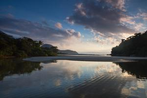 A Tropical Scene with the Itamambuca River Entering the Atlantic Ocean at Itamambuca Beach by Alex Saberi