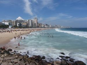 A View Over Leblon and Ipanema Beaches in Rio De Janeiro by Alex Saberi