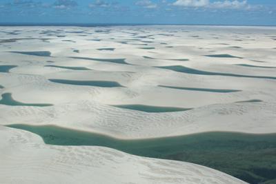 An Aerial Shot of Brazil's Lencois Maranhenses Sand Dunes and Lagoons by Alex Saberi