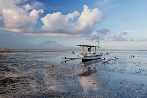 An Outrigger Fishing Boat on the Coast of Bali by Alex Saberi