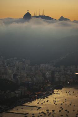 Christ the Redeemer Statue Above Rio De Janeiro at Sunset by Alex Saberi