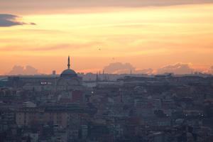 Cityscape of Istanbul at Sunset by Alex Saberi