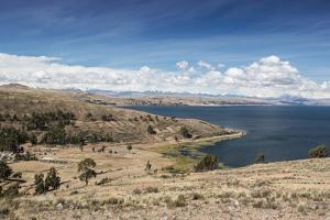 Lake Titicaca and the Cordillera Real Mountain Range in the Background by Alex Saberi
