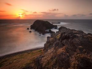 Long Exposure of Buraco Da Raquel Rock Formation on Fernando De Noronha at Sunrise by Alex Saberi