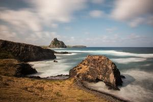 Long Exposure of Buraco Da Raquel Rock Formation on Fernando De Noronha by Alex Saberi