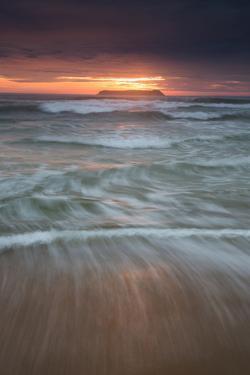 Long Exposure of the Sea on Mole Beach on Florianopolis Island at Sunrise by Alex Saberi