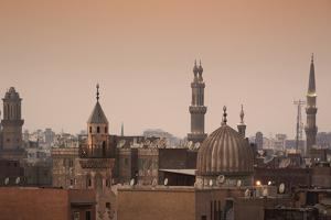Minarets and Mosques of Cairo at Dusk by Alex Saberi