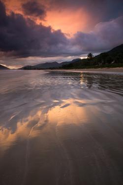 Praia De Lagoinha Beach During Sunset in Ubatuba, Sao Paulo State, Brazil by Alex Saberi