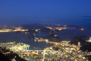 Rio's Skyline at Night From Sugar Loaf Mountain by Alex Saberi