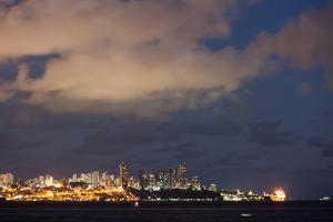 Salvador City at Night by Alex Saberi