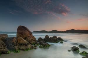 Scenic View of Praia Do Rosa Beach in Florianopolis Mainland at Sunset by Alex Saberi