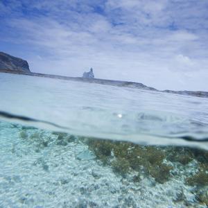 Split Level View at the Shoreline of Praia Da Atalaia Beach on Fernando De Noronha by Alex Saberi