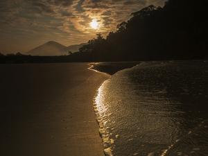 Sunrise at Dura Beach in Ubatuba, Brazil by Alex Saberi