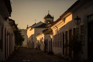 Sunrise over a Typical Street in Paraty by Alex Saberi