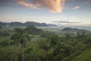 Sunrise over the Farmlands of Vinales Valley, Cuba by Alex Saberi
