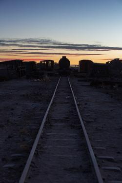 Sunset at the Train Graveyard in Uyuni, Bolivia by Alex Saberi