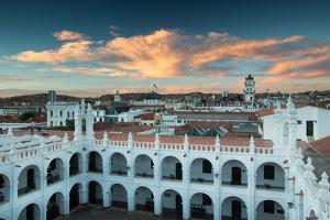 Sunset in Sucre over the Rooftop of the Convent of San Felipe Neri by Alex Saberi