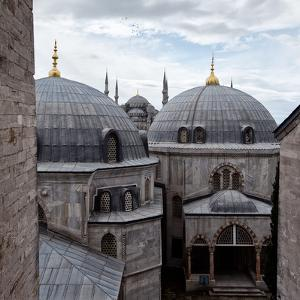 The Blue Mosque Viewed Over the Domes of the Hagia Sophia by Alex Saberi