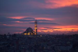 The Fatih Mosque at Sunset by Alex Saberi