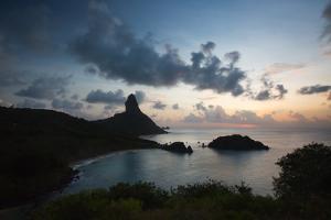 The Islands of Fernando De Noronha at Sunset with Morro Do Pico by Alex Saberi