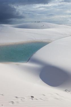 The Lencois Maranhenses Sand Dunes and Lagoons at Sunset in Maranhao State, Brazil by Alex Saberi