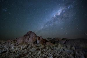 The Milky Way over the Boulders of the Namib-Naukluft National Park by Alex Saberi