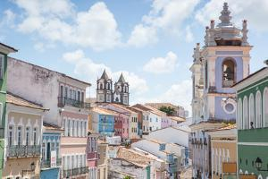The Pelourinho or Historic Center of Salvador in the Mid Day Sun by Alex Saberi