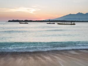 The Sea Laps Up on the Sand in Gili Trawangan at Sunrise by Alex Saberi