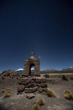 Venus Glows in the Sky at Dusk Above a Grave Marker in Sajama National Park by Alex Saberi
